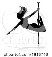 Poster, Art Print Of Pole Dancer Woman Silhouette