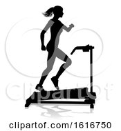 November 11th, 2018: Gym Woman Silhouette Treadmill Running Machine by AtStockIllustration