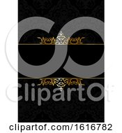 Poster, Art Print Of Decorative Elegant Background In Black And Gold