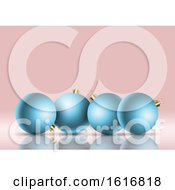 Retro Styled Christmas Bauble Background