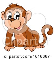 Clipart Of A Monkey Royalty Free Vector Illustration