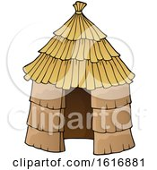 Clipart Of A Hut Royalty Free Vector Illustration