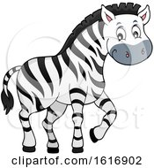 Clipart Of A Cute Zebra Royalty Free Vector Illustration by visekart
