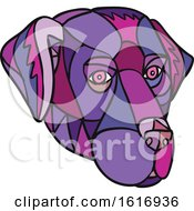Labrador Retriever Dog Head Mosaic Color