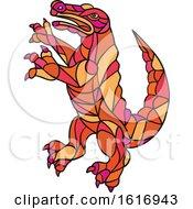 Crocodile Prancing Mosaic Color