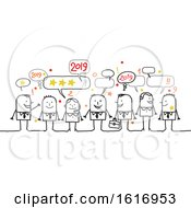 Poster, Art Print Of Group Of Business People Celebrating New Year