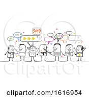 Poster, Art Print Of Group Of People Celebrating New Year