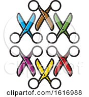 Clipart Of Colorful Scissors Royalty Free Vector Illustration