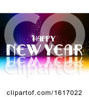 November 17th, 2018: Clipart Of A Happy New Year Greeting Royalty Free Vector Illustration by dero