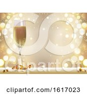 November 17th, 2018: Clipart Of A New Year Background With A Champagne Glass Royalty Free Vector Illustration by dero