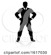 Business Person Silhouette On A White Background