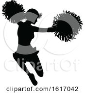 Cheerleader Silhouette by AtStockIllustration