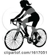 Female Cyclist by AtStockIllustration