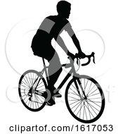 Man Riding A Bike by AtStockIllustration