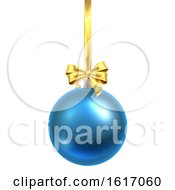 November 17th, 2018: Bauble Christmas Ball Glass Ornament Blue by AtStockIllustration