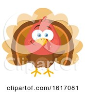 Clipart Of A Cute Little Turkey Bird Royalty Free Vector Illustration