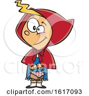 Cartoon Red Riding Hood Girl