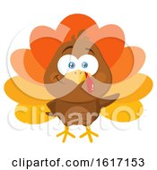 Thanksgiving Turkey Bird Waving by Hit Toon