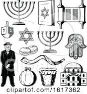 Poster, Art Print Of Black And White Jewish Icons