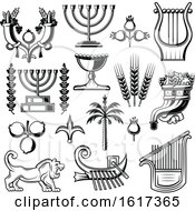 Black And White Jewish Icons