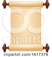 Poster, Art Print Of Blank Parchment Scroll