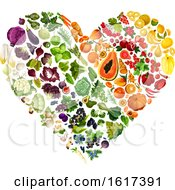 Heart Made Of Colorful Produce