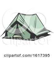 Green Tent by Vector Tradition SM