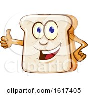 Bread Mascot Giving A Thumb Up by Domenico Condello