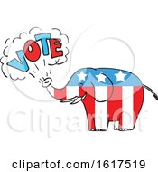 American Elephant Vote Drawing