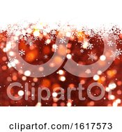 Poster, Art Print Of Christmas Background Of Falling Snowflakes
