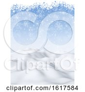 Poster, Art Print Of 3d Christmas Background With Snowy Scene