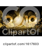 Happy New Year Bauble Background by KJ Pargeter