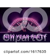 New Year Party Clock