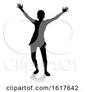 Woman Arms Raised Person Silhouette
