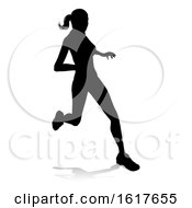 Runner Racing Track And Field Silhouette
