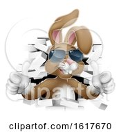 Poster, Art Print Of Easter Bunny Cool Rabbit Sunglasses Thumbs Up