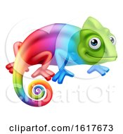 Chameleon Lizard Cartoon Character by AtStockIllustration