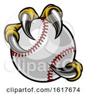 Poster, Art Print Of Eagle Bird Monster Claw Holding Baseball Ball