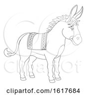 Poster, Art Print Of Donkey Animal Cartoon Character
