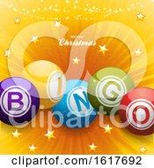 Christmas Bingo Balls Festive Background
