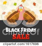 Black Friday Sale Shopping Turkey Bird Over A Sign