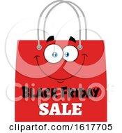 Red Black Friday Sale Shopping Bag Mascot