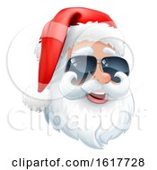 Cool Santa Claus Christmas Cartoon In Sunglasses