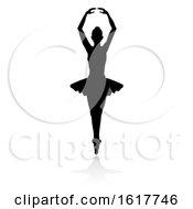 Ballet Dancer Silhouette Set On A White Background