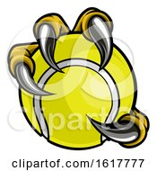 Poster, Art Print Of Eagle Bird Monster Claw Talons Holding Tennis Ball