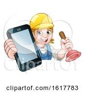 Poster, Art Print Of Plumber Handyman Phone Concept