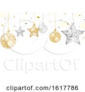 Poster, Art Print Of Christmas Background With Glittery Ornaments