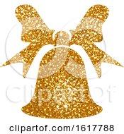 Golden Glitter Christmas Bell