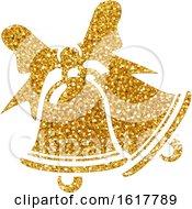 Golden Glitter Christmas Bells