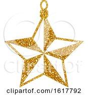 Golden Glitter Christmas Star Ornament by dero